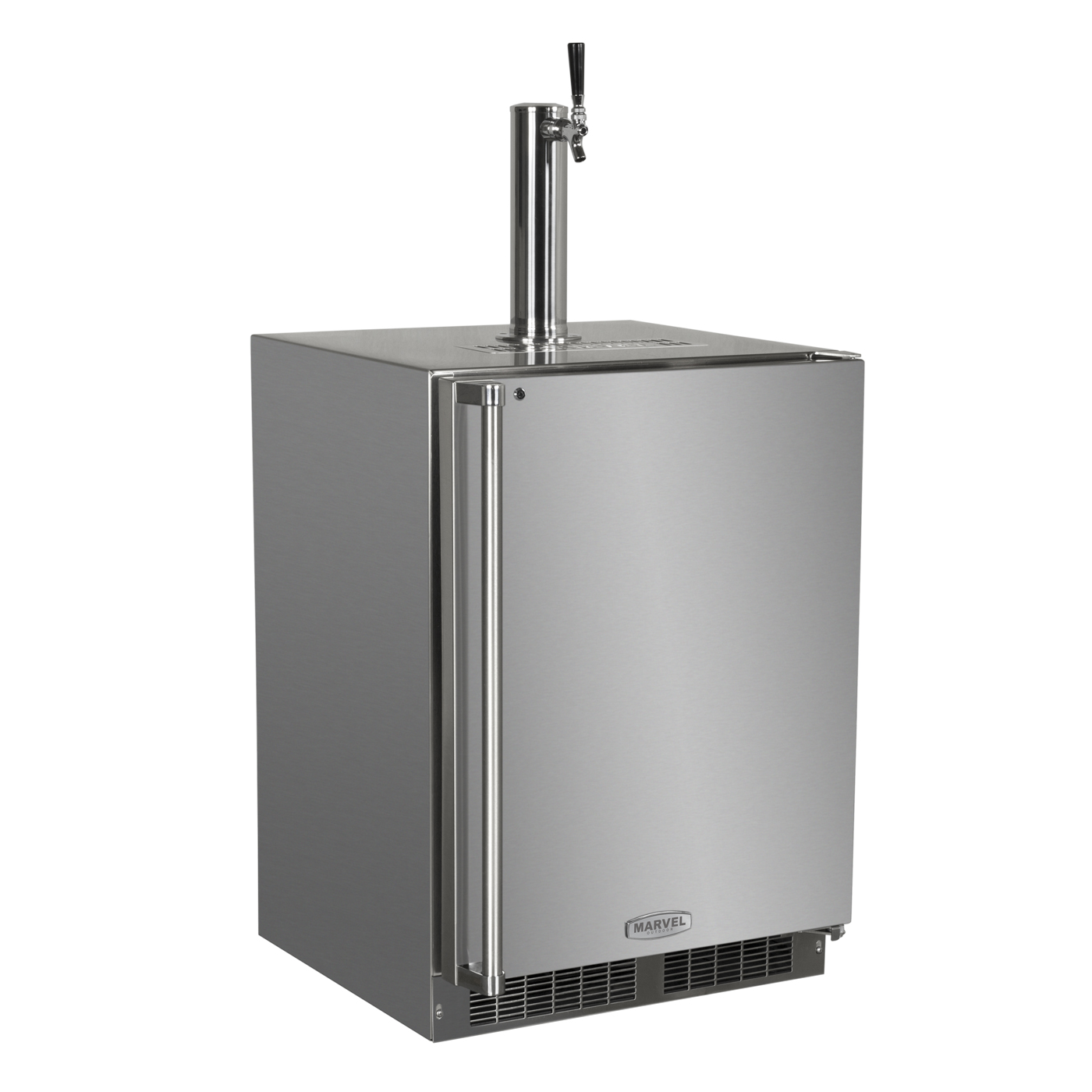 Marvel Outdoor 24'' Single Tap Built In Kegerator with Lock
