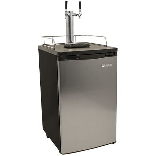 EdgeStar Stainless Steel Double Tap Kegerator KC2000SSTWIN