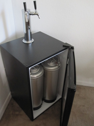 add the double tap stainless tower or add the double tap tower kegerator conversion kit for a complete home draft system