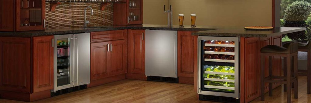 Here 39 s why marvel makes the best built in kegerators for Home bar with kegerator space