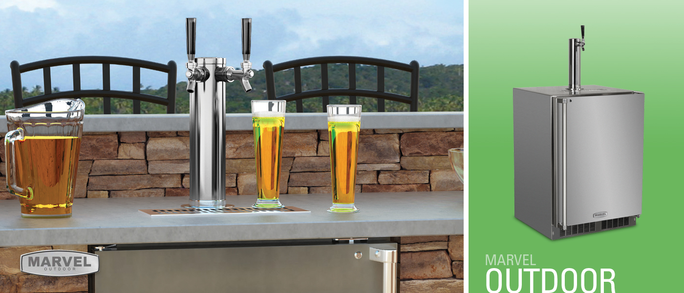 Marvel Outdoor Build-In Full Size Stainless Steel Kegerator with Lock