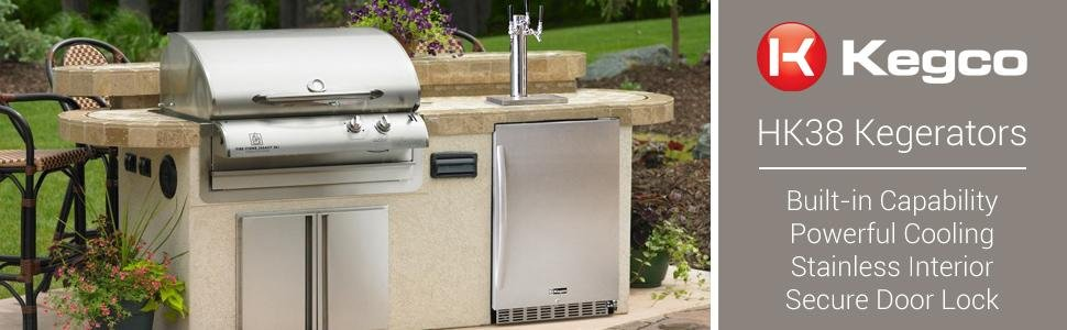 Kegco Outdoor Commercial Built-In Triple Tap Digital Kegerator