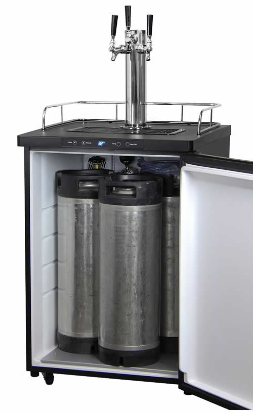 Kegco Triple Tap Digital Kegerator Stainless Steel