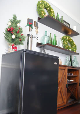 A new kegerator is a great christmas gift for Home bar with kegerator space